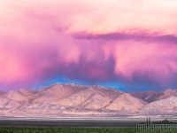Insane Cloud Posse Over Northern Nevada Mountains