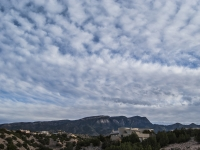 Cloud Cover Over The Sandia Mountains