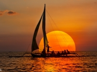 Of Sailboat & Sunset..