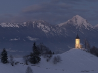 Saint Primož Church In The Morning Light - Panorama