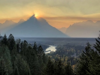 Smoke And The Snake River Overlook
