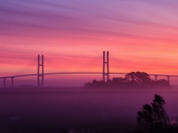 Sidney Lanier Bridge Sunrise