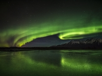 Northern Lights Over Knik River, Alaska