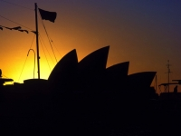 The Sydney Opera House At Sunset