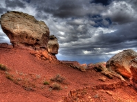 Twin Rocks At Capitol Reef National Park
