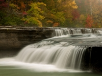 Ozark Waterfall In Fall
