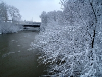 An Icy Thames River