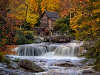 Glade Creek Mill In Fall