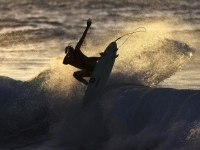 Surfer Smacking The Lip