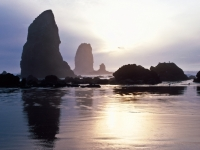 Cannon Beach At Dusk