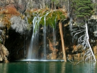One Of The Falls At Hanging Lake