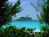 Cruise Ship In Paradise