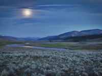 Full Moon Over Lamar Valley