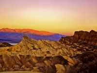 Winter Sunrise On Manley Beacon In Death Valleynational Park