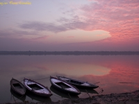 The Holy Ganges At Sunrise