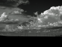 Clouds And Power Poles, Near Deming, Nm