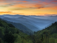 Smoky Mountains Sunrise - Gsmnp National Park