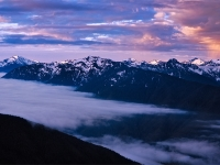 Olympic Mountains Morning Storm