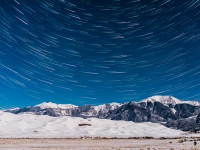 Frozen Stars Over The Great Sand Dunes