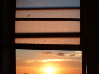Sunrise From My Bathroom Window