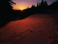 Sunset On The Rim Trail, Crater Lake