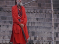 Holy Man On The Banks Of The Ganges