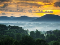 Welcome To Asheville Nc - Blue Ridge Mountains Sunset