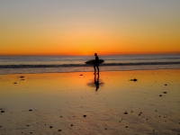 San Onofre Sunset Surfer
