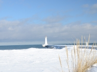 Light House In Winter
