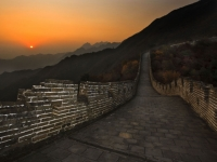 The Sun Sets Over The Great Wall