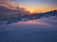 Winter Evening At Beskydy Mountains