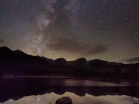 Milky Way At Rocky Mountain National Park