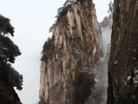 Pinacle And Sheer Cliffs Of Huangshan
