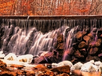 Jockey Hollow Falls On Cold Day