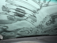 Icy Windshield From The Driver's Viewpoint
