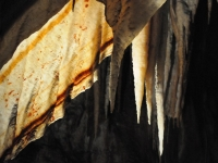 A Shawl Hangs From The Chifley Cave At Jenolan Caves, Nsw