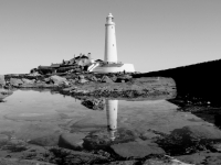 St Mary's Lighthouse On Reflection