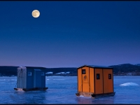 Ice Shanties And Full Moon