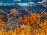 Aspen Colorad And The Elks Range At The Peak Of Fall Colors