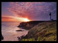 Yaquina Head Lighthouse Sundown