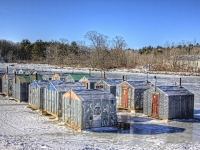 Ice Fishing Shacks Maine