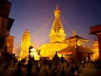 Dawn At Swayambhunath.  Nepal.