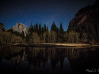Moon Light On Half Dome
