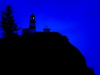 Cape Disappointment Lighthouse At Twilight