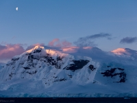 Moon At Sunset - Antarctic Peninsula