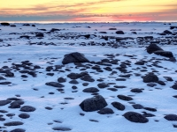 Snow & Ice-covered Lake Huron Sunrise