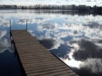Garver Lake Dock Reflection