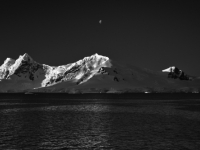 Mountain Range In Lomaire Channel Of Antarctica