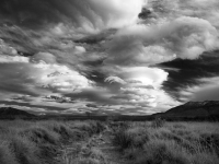 The Owens Valley In Black And White