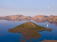 Crater Lake Moonrise